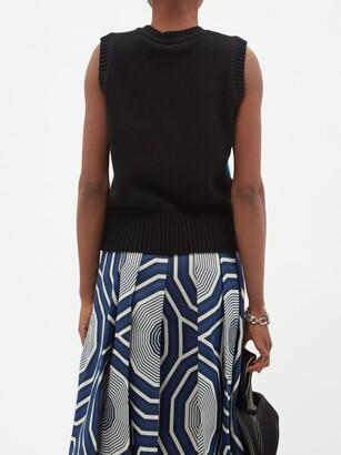 Charles Jeffrey Loverboy Guddle Tasselled Wool-blend Sleeveless Sweater - Black Multi