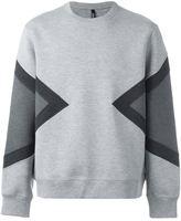 Neil Barrett colour block sweatshirt - men - Cotton/Spandex/Elastane/Lyocell/Viscose - XS