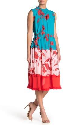 Ted Baker Camelis Floral Colorblock Midi Dress