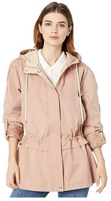Sam Edelman Cotton Jacket with Drop Waist (Cameo Pink) Women's Clothing