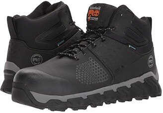 Timberland Ridgework Composite Safety Toe Waterproof Mid (Black) Men's Work Lace-up Boots
