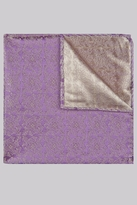 Moss 1851 Purple & Gold Geo Silk Pocket Square