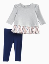 Splendid Baby Girl French Terry and Plaid Top Set
