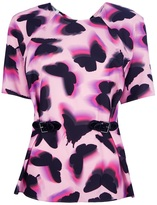 Moschino Cheap & Chic butterfly print blouse