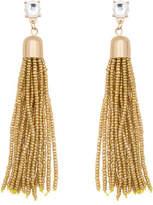 ELOQUII Gem Stud Metal Beaded Tassel Earrings