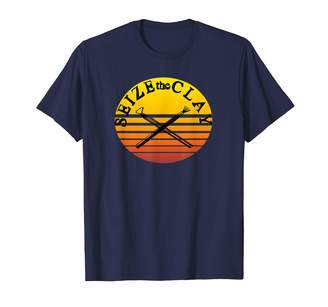 Retro Sun Funny Pottery Pun Seize the Clay T-Shirt