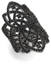 Noir Crystal Statement Ring