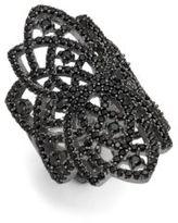 Noir Crystal Statement Ring