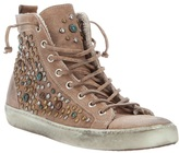 Leather Crown studded hi-top