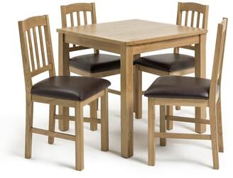 Argos Home Ashwell Oak Veneer Dining Table & 4 Chairs