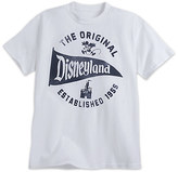 Disney Disneyland Pennant Tee for Adults - White