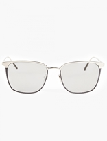 Linda Farrow White Gold-plated Wayfarer Sunglasses