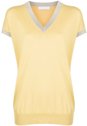 Fabiana Filippi short-sleeved V-neck pullover