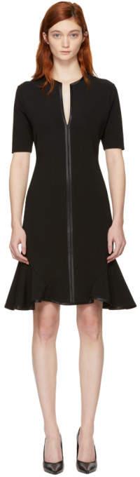 Givenchy Black V-Neck Flare Dress