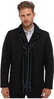 Perry Ellis Wool Blend Coat w/ Scarf EP822233