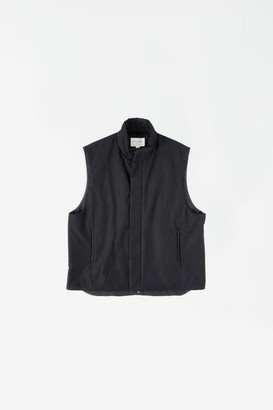 Still By Hand - Padded Stand Collar Vest Black - 1