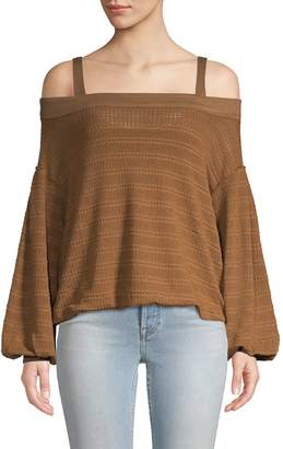 Free People Textured Off-The-Shoulder Top