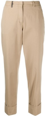 Peserico Plain Cropped Trousers