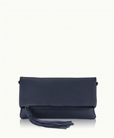 GiGi New York Stella Fold-Over Clutch Pebble Grain