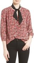 Joie Women's Elick Tie Neck Silk Blouse