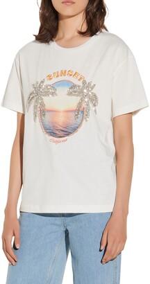 Sandro Sunset California Graphic Tee