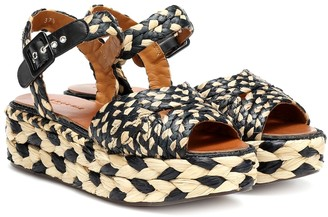 Clergerie Artemis raffia plateau sandals