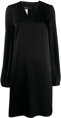 Talbot Runhof Flared V-Neck Dress