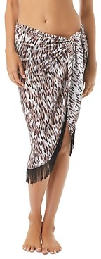 Vince Camuto Fringed Pareo Swim Cover-Up