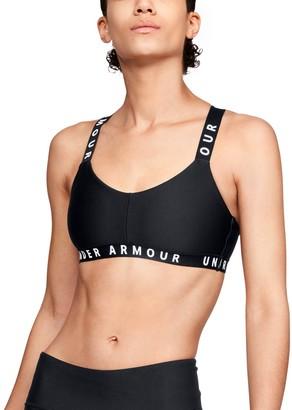 Under Armour Women's UA Wordmark Strappy Sports Bralette Bra