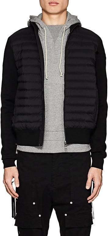 Moncler Men's Maglia Down-Quilted Cotton-Blend Jacket