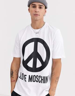 Love Moschino peace logo t-shirt-White