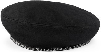Gucci Wool beret with grosgrain
