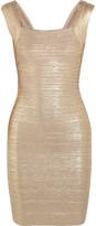 Herve Leger Metallic bandage mini dress