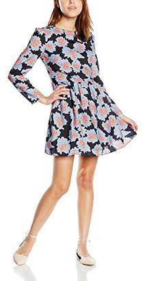 Glamorous Women's Printed Floral Short Sleeve Dress,8 (Manufacturer Size:X-Small)