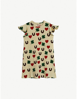 Mini Rodini Clover-print stretch-organic cotton dress 4-11 years