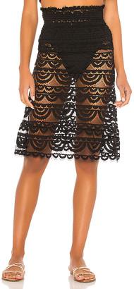 PQ Smocked Tube Skirt