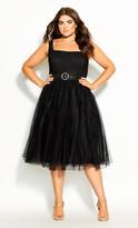 City Chic Whimsy Fun Dress - black