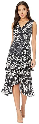 Sam Edelman Graphic Botanic (Black/White) Women's Dress
