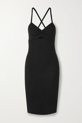 Ninety Percent Cutout Pointelle-knit Organic Cotton-jersey Dress
