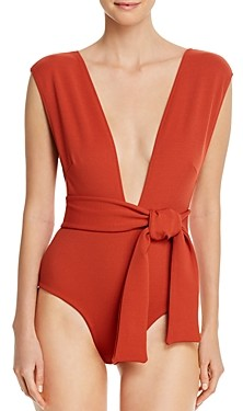 Haight Deep V-Neck Crepe One Piece Swimsuit