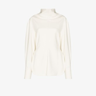 Low Classic High Neck Long Sleeve Top