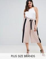 Elvi Premium Culottes With Contrast Stripe