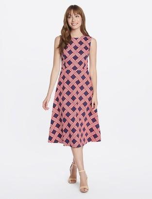 Draper James Lattice Midi Love Circle Dress