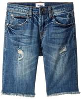 Hudson Slim Straight Repaired Shorts in Heavy Destroyed Boy's Shorts