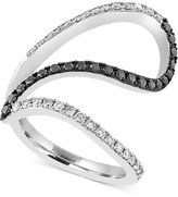 Effy Caviar by Black and White Diamond Ring (5/8 ct. t.w.) in 14k White Gold