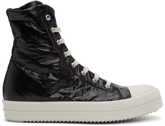 Rick Owens Black Performa Capped Toe High-Top Sneakers