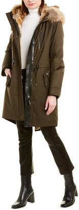Mackage Rena Leather-Trim Parka