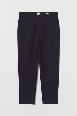 H&M Slim Fit Cropped Chinos - Blue