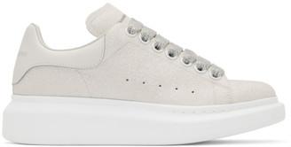 Alexander McQueen Off-White Glitter Oversized Sneakers