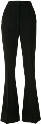 Rebecca Vallance High-Rise Flared Pintuck Trousers